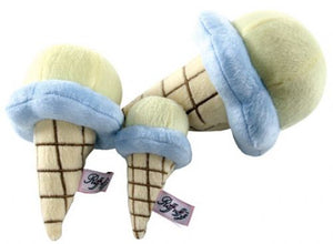 French Vanilla Gelato Ice Cream Cone - Plush dog toy - Ruff Ruff Couture