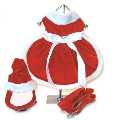 Velvet Santa Girl Harness Dress