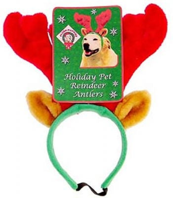 Holiday Antlers Dog Headband - Plush Puppies