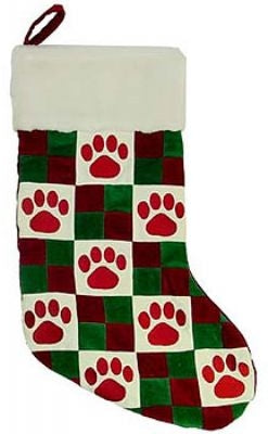 Quilted Paw Stocking - Plush Puppies