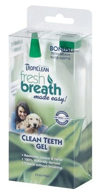 TropiClean Clean Teeth Gel/Kit 2 in 1