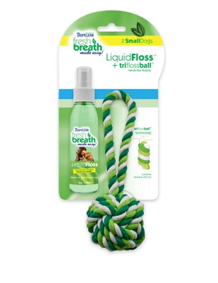 Tropiclean Fresh Breath TriFlossBall with Liquid Floss for Dogs
