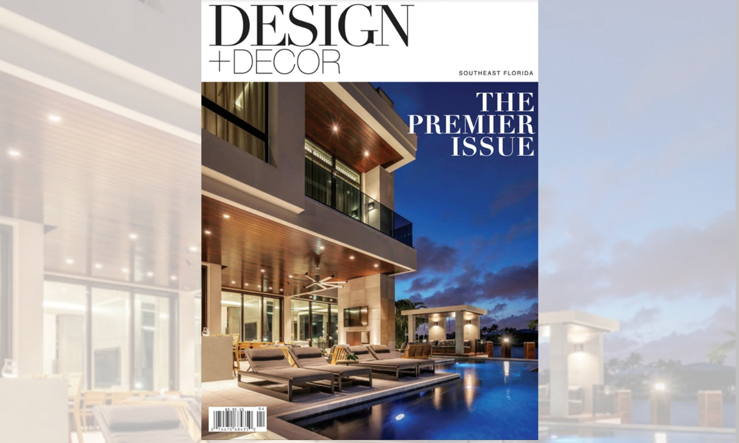 Elegant Strand featured in Design+Decor's The Premier Issue