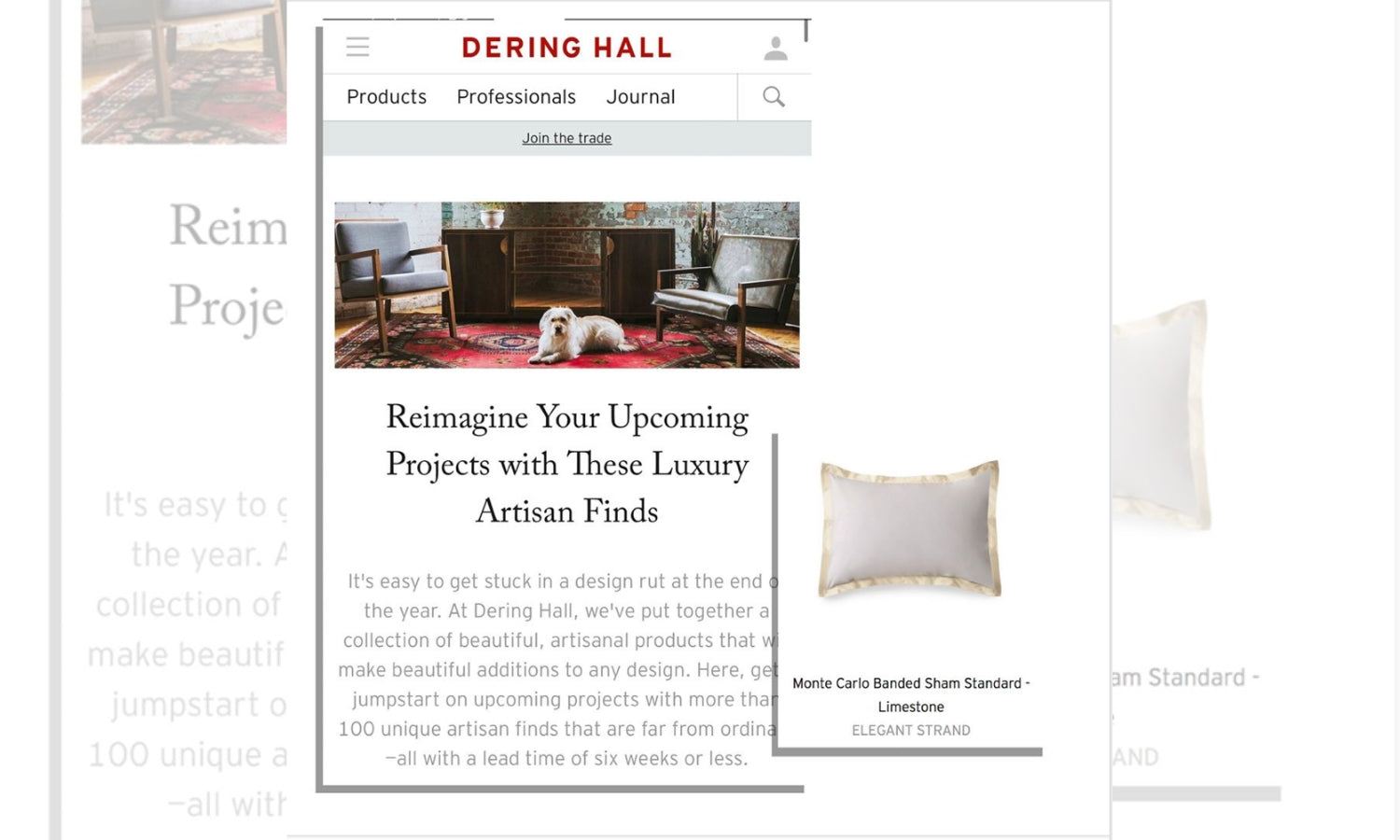 Elegant Strand featured in Dering Hall