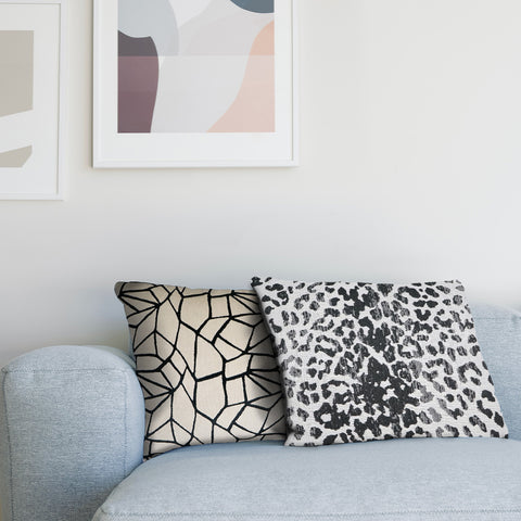 mix and match throw pillows on couch