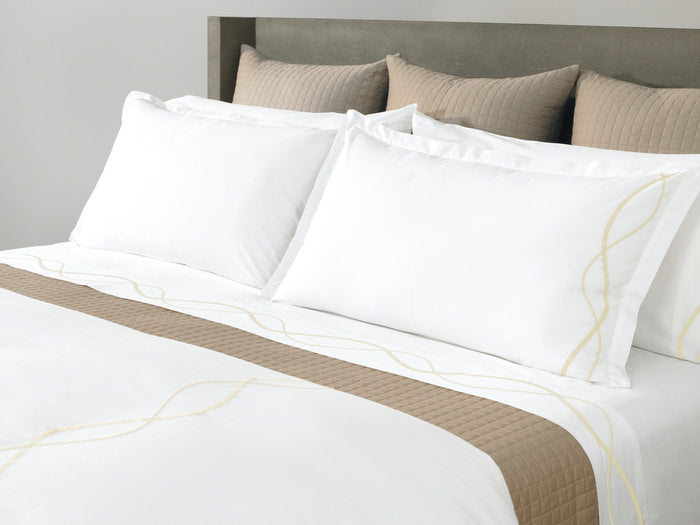 CAPRI EMBROIDERED DUVET COVER Limestone