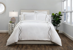 CAPRI EMBROIDERED DUVET COVER Graphite
