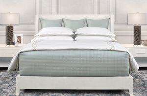 Quilted Coverlet & Sham Color Swatch Eucalipto