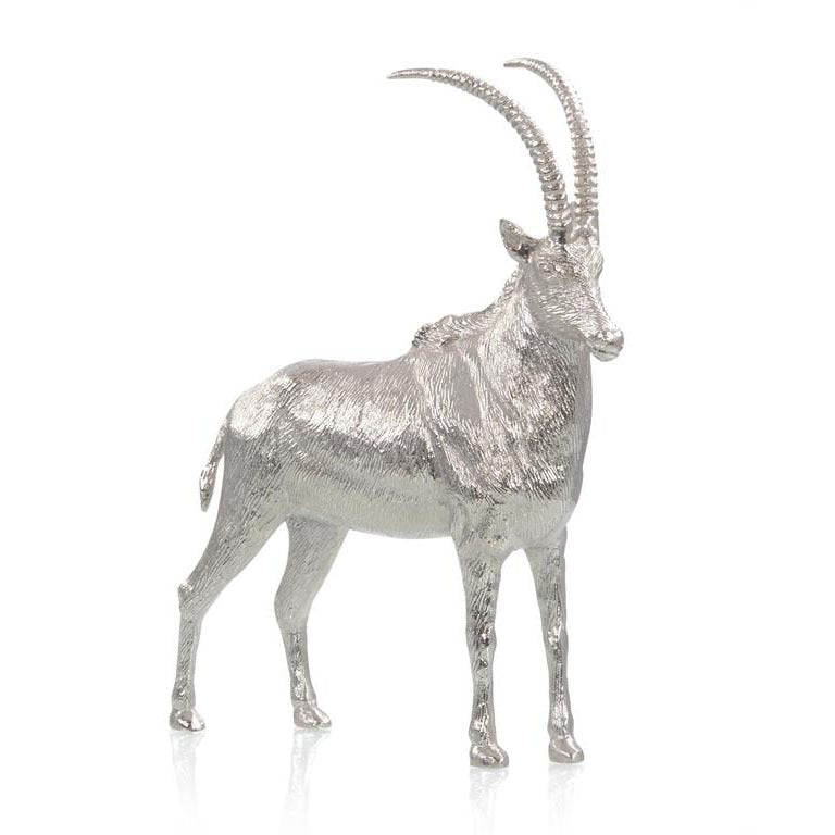 Sable Antelope Sculpture in Nickel