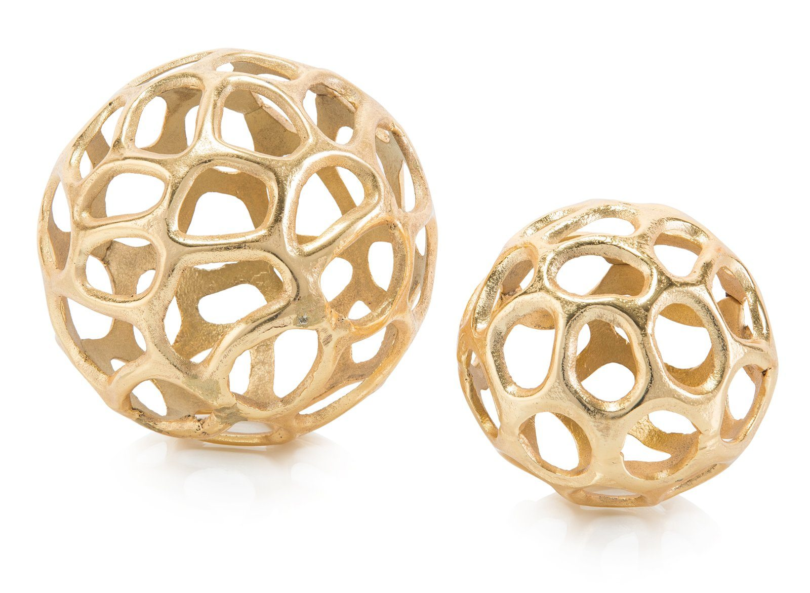Set of Two Gold Balls With Holes