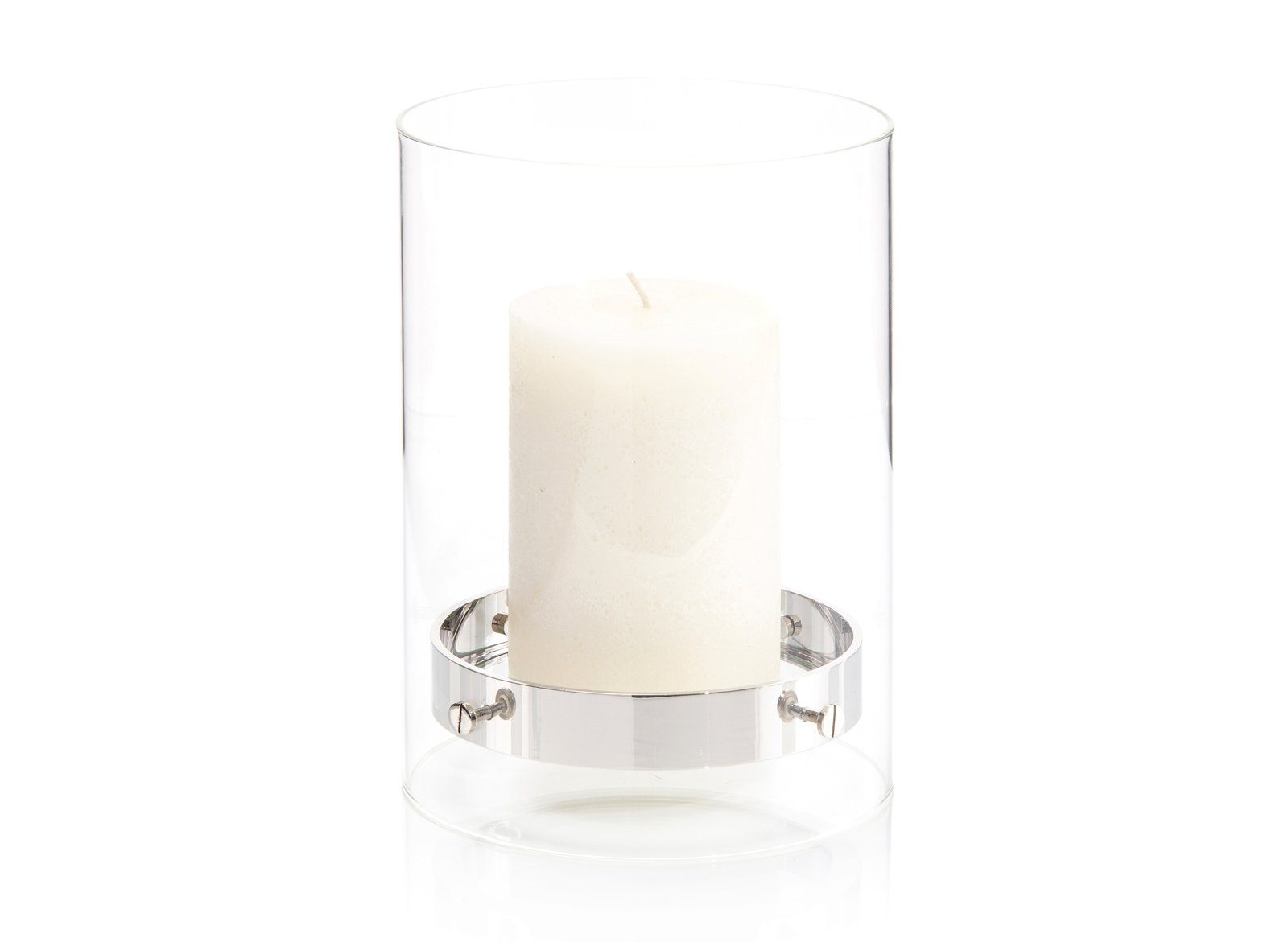 Floating Candleholder in Nickel I