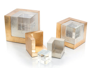Set of Three Cradled Cubes