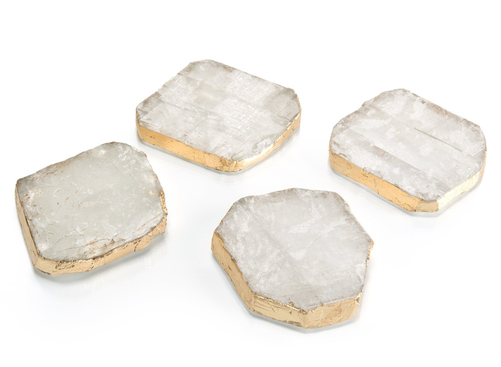Set of Four Selenite Coasters