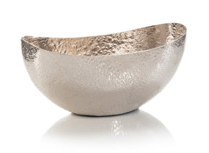 6.75X17X8 OVAL BOWL IN WEATHERED SILVER
