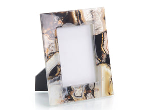 Rich Brown Clear Agate Picture Frame