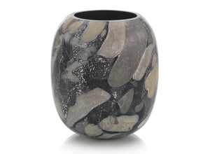 Dappled Black Vase