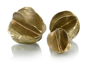 Set of Three Brass Spheres