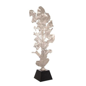 Oak Leaf Sculpture in Nickel