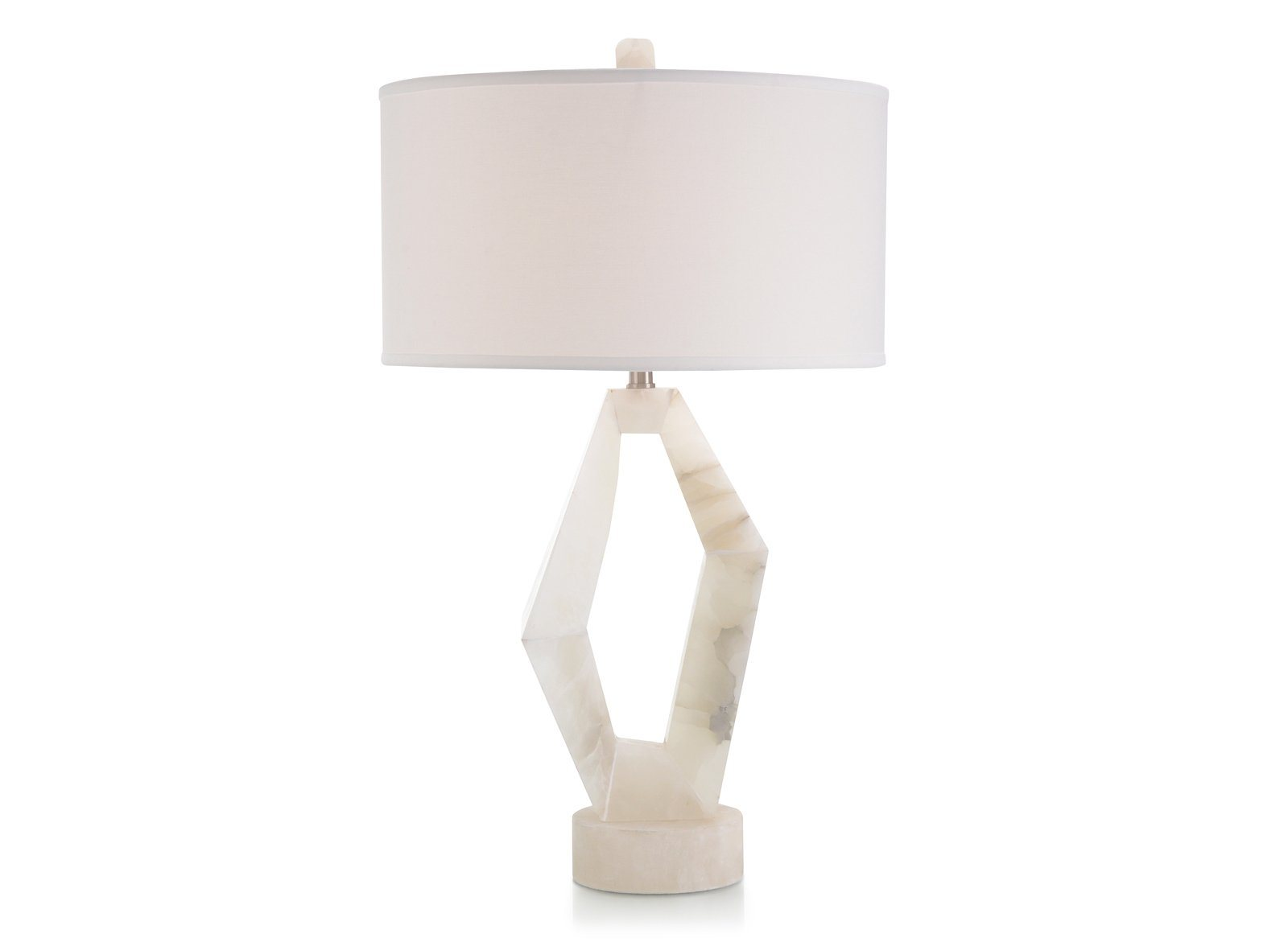Abstract Alabaster Table Lamp
