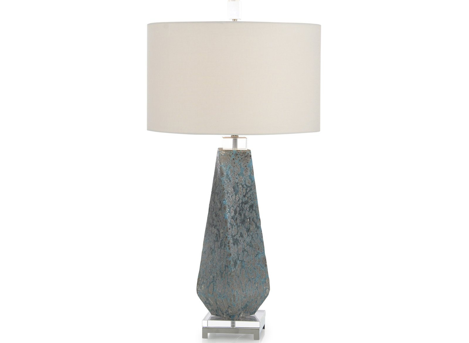 Shades of Blue Lamp With A Twist