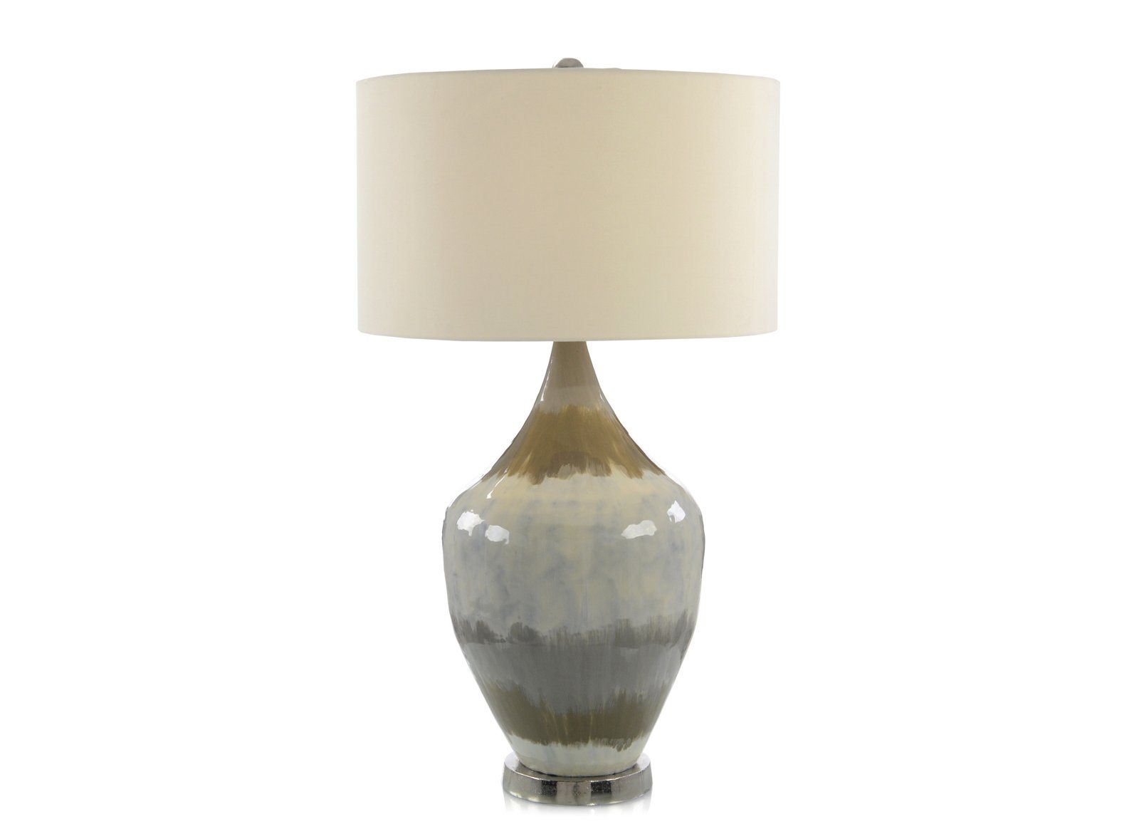 Enameled Earth Tone Table Lamp