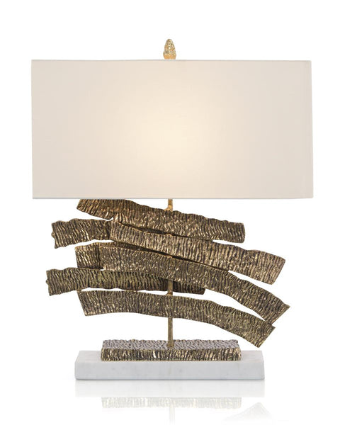 Brass Crinkle Swoosh Table Lamp
