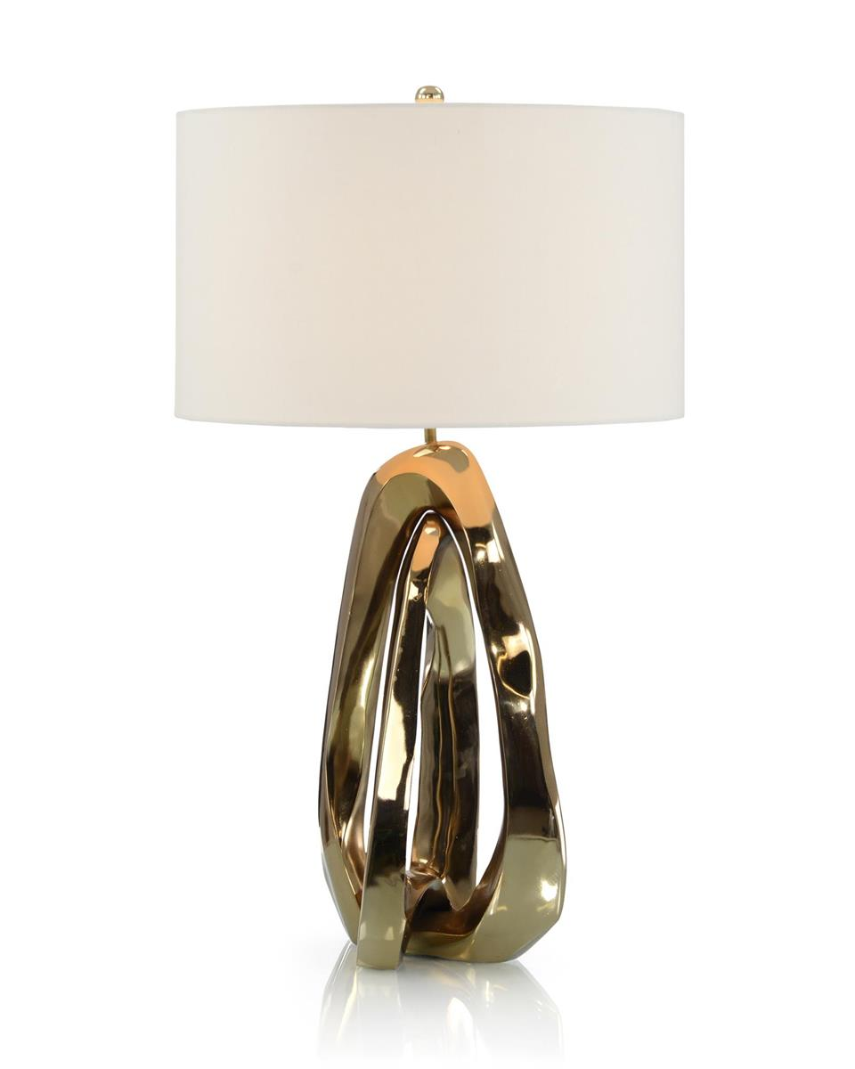 Amorphic Brass Table Lamp