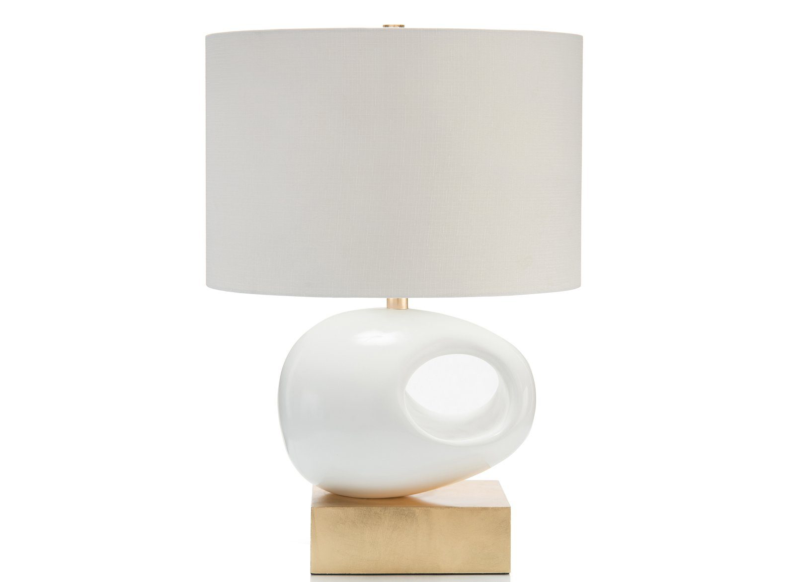 Sculpture Table Lamp on Gold Base