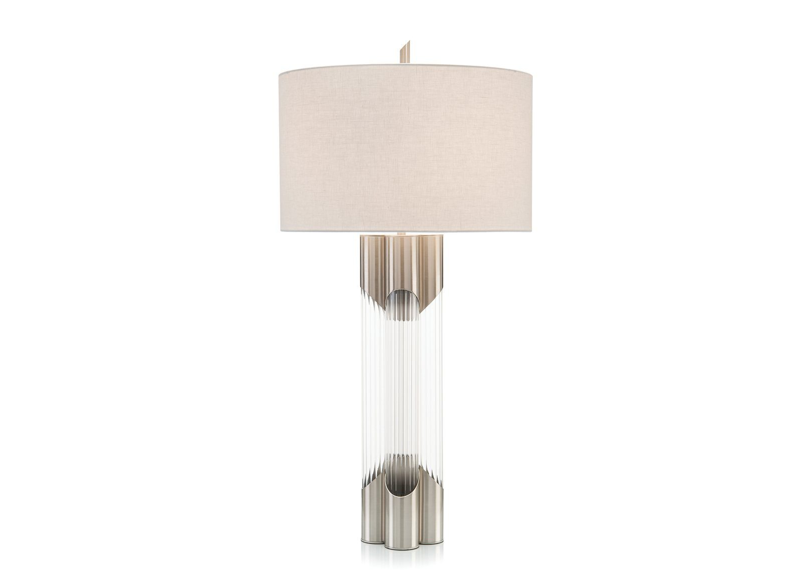 Nickel and Glass Table Lamp