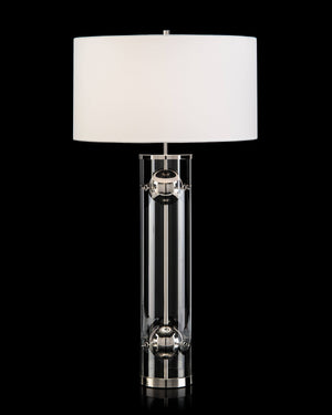 Nickel Acrylic Table Lamp