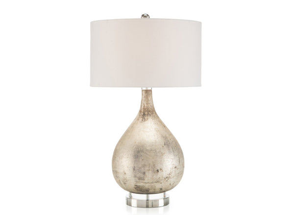 Lamp In Weathered Silver Finish