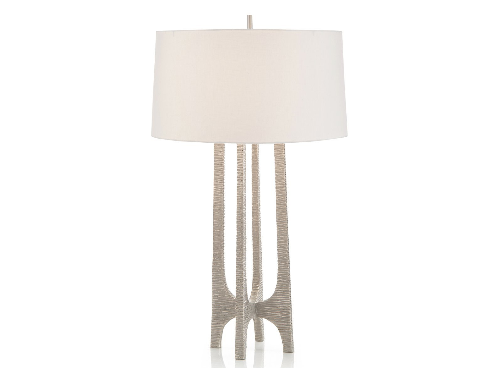 Textured Table Lamp In Nickel