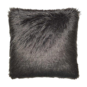 Llama Fur - Charcoal Decorative pillow