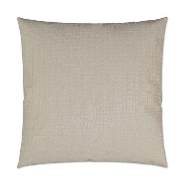 Saltwater Croc - Ivory Decorative Pillow