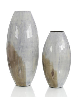 Set of Two Vases in Shades of the Earth
