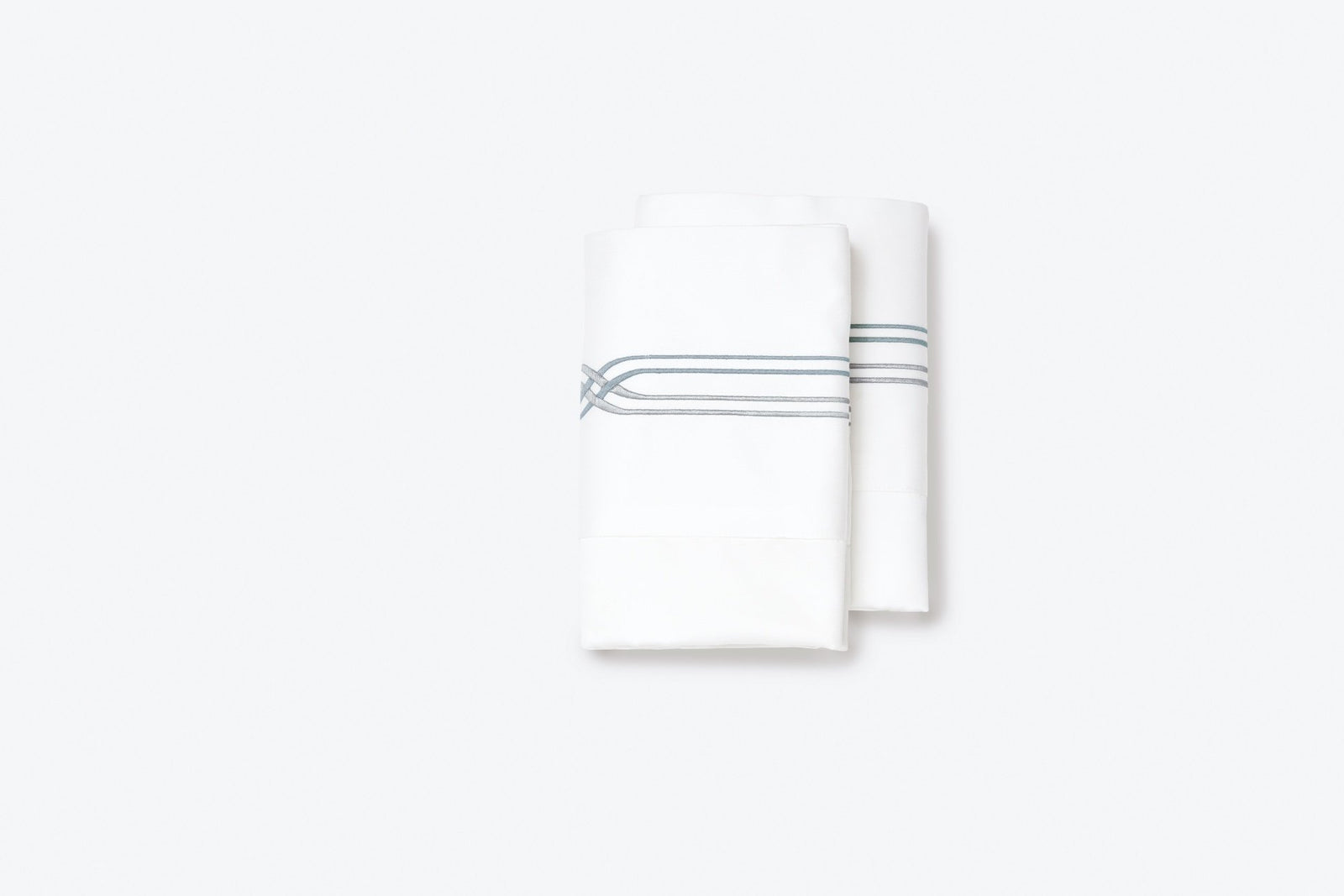 St Tropez Pillowcase Blue Silver