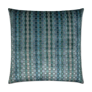 Times Square - Teal Decorative Pillow