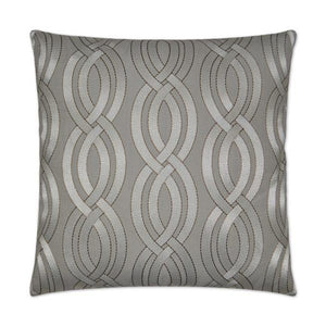 Winding Path - Grey Decorative Pillow