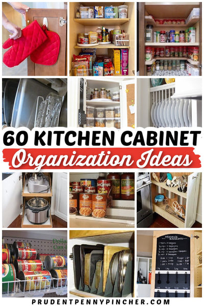 Organize your kitchen cabinets on a budget with these DIY kitchen cabinet organizing idea