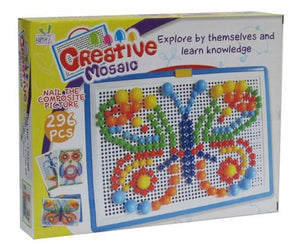 1 Set Children Kids Early Learning Education Toys Creative Puzzle Peg Board with 296 Pegs Buliding Toy