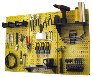 4' Metal Pegboard Standard Tool Organizer Kit with Accessories - Yellow/Black