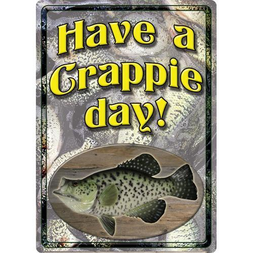 Tin Sign Crappie Day, Size 12