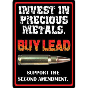 "Tin Sign Precious Metals, Size 12"" x 17"""