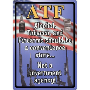 "Tin Sign ATF, Size 12"" x 17"""