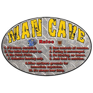 "Tin Sign Man Cave, Size 12"" x 17"""