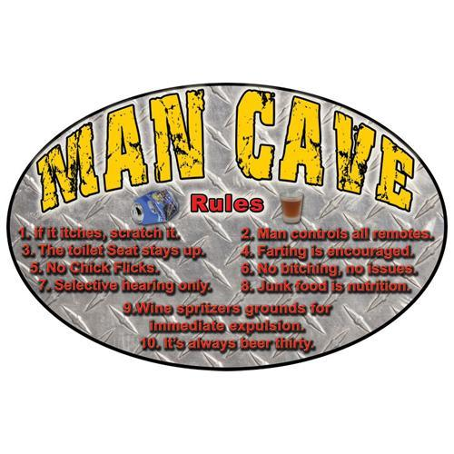 Tin Sign Man Cave, Size 12