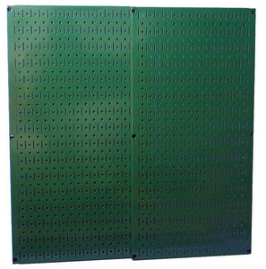 "Green Metal Pegboard Pack - Two 16"" x 32"" Pegboard Tool Boards"