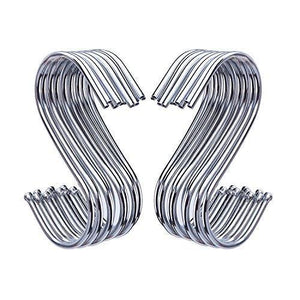 Outus S Shaped Hooks Hanging Hooks Hangers for Bathroom, Bedroom, Office and Kitchen (20 Pack)