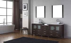 Order now virtu usa dior 82 inch double sink bathroom vanity set in espresso w square vessel sink white engineered stone countertop single hole polished chrome 2 mirrors kd 70082 s es
