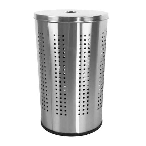 Storage brushed stainless steel laundry bin hamper 46l ventilated stainless steel clothes basket with polished lid life time warranty 4